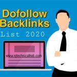 DoFollow Backlinks Site List Of 2020