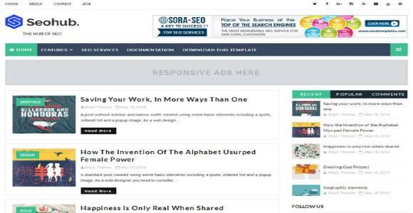 SeoHub AdSense Friendly Blogger Templates