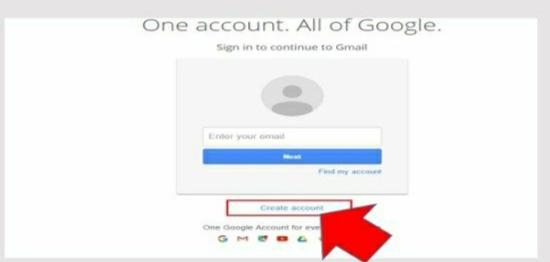 create account पे click करे