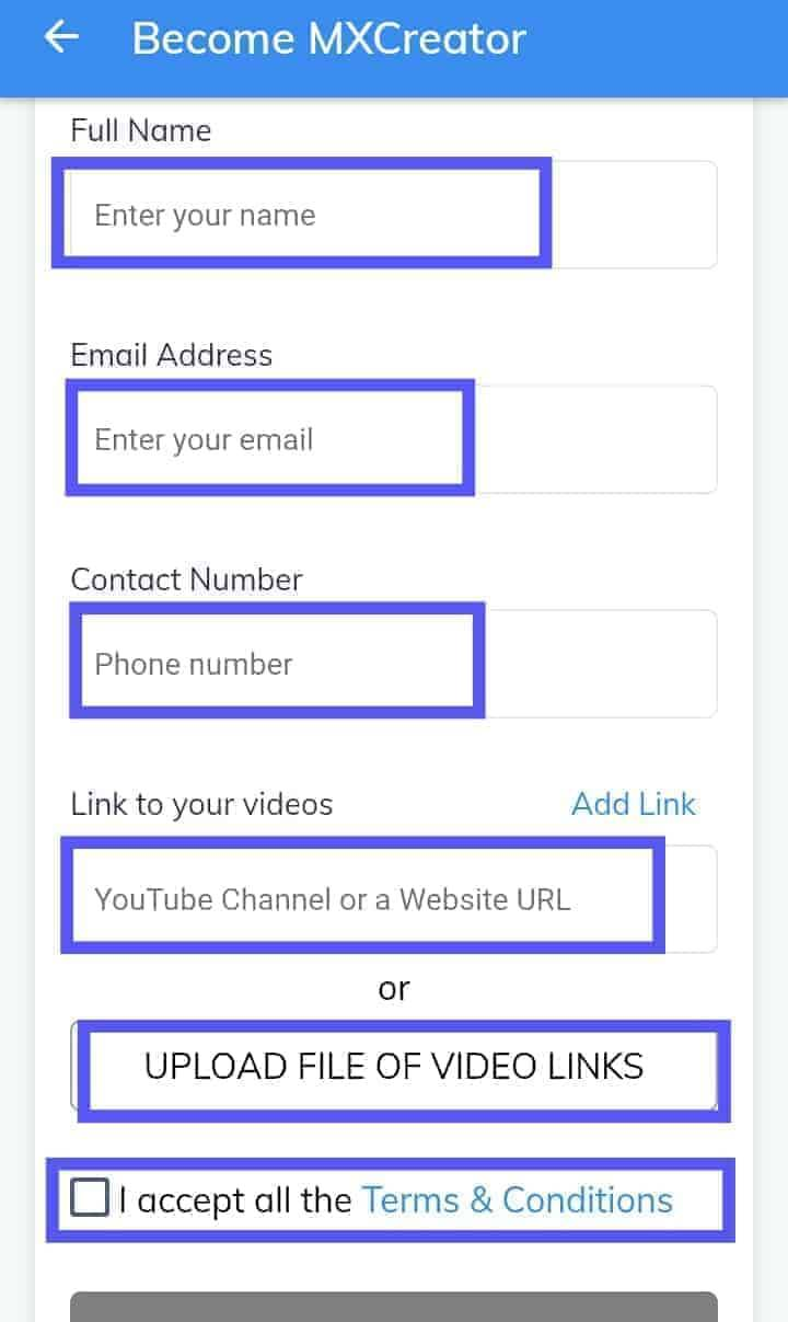 Name E-mail, Contact Number
